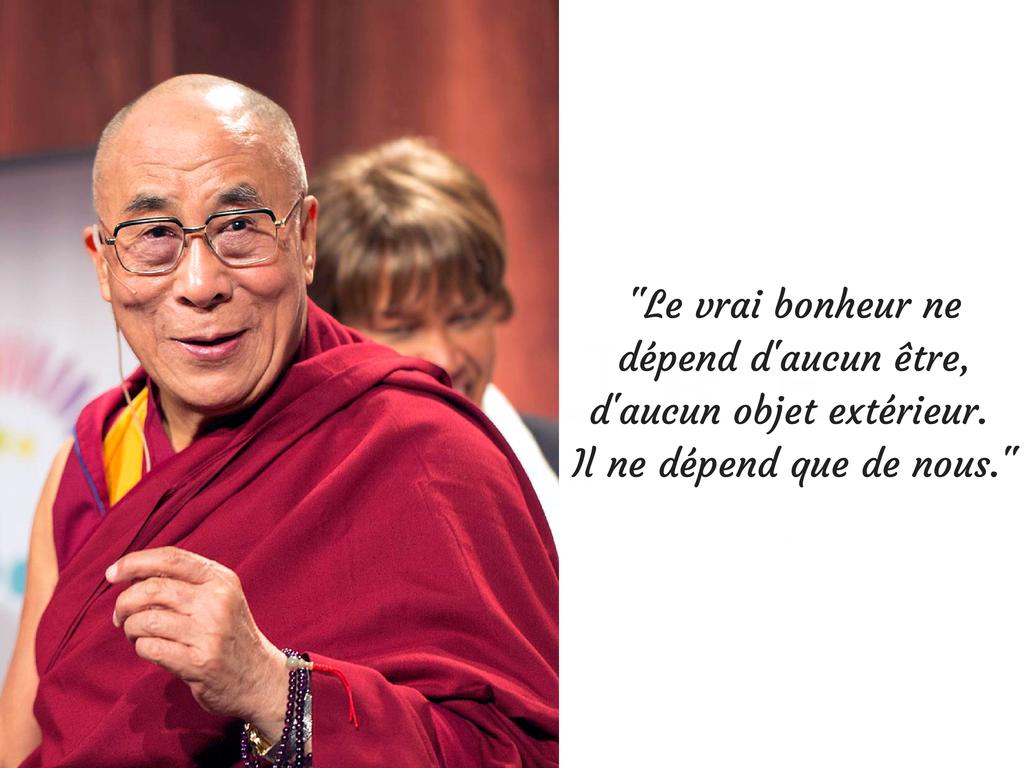 Le vrai bonheur ne dépend d'aucun être,