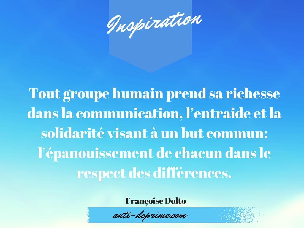 Tout Groupe Humain Prend Sa Richesse Dans La Communication