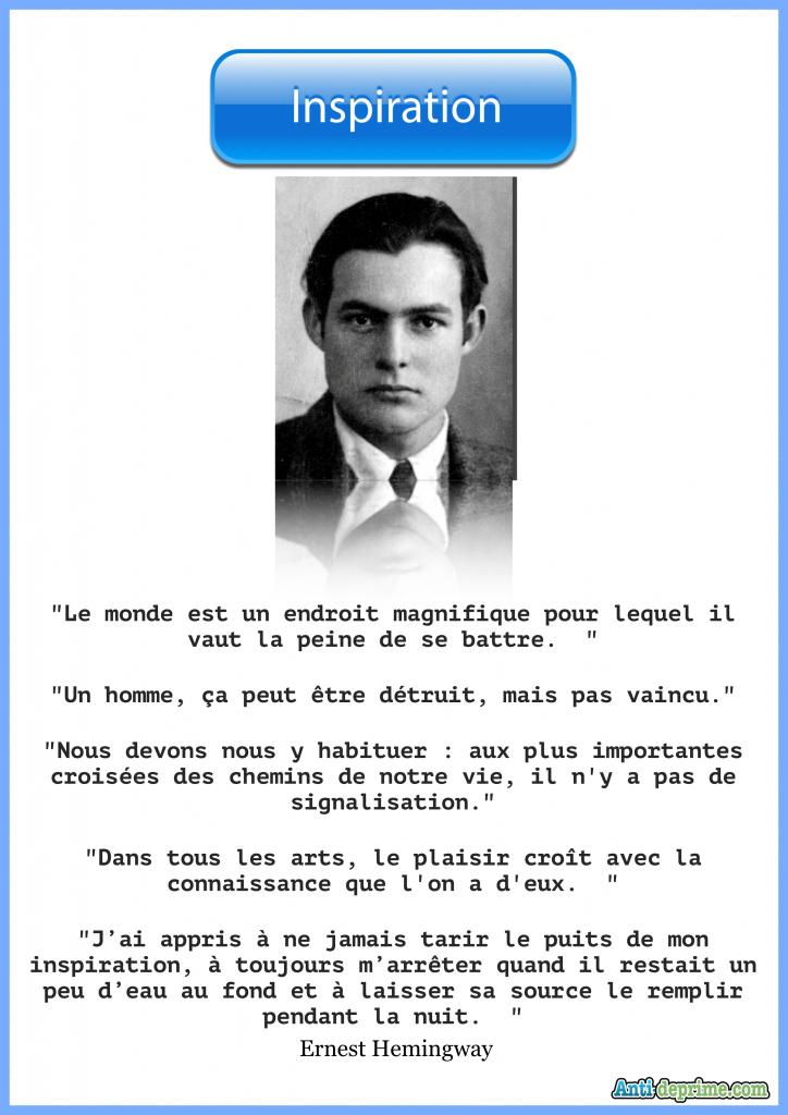 Top 5 Des Citations D Ernest Hemingway Pour Inspirer Votre Vie