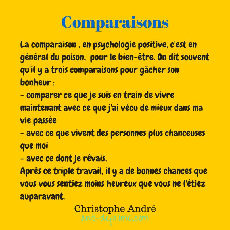 La comparaison , en psychologie