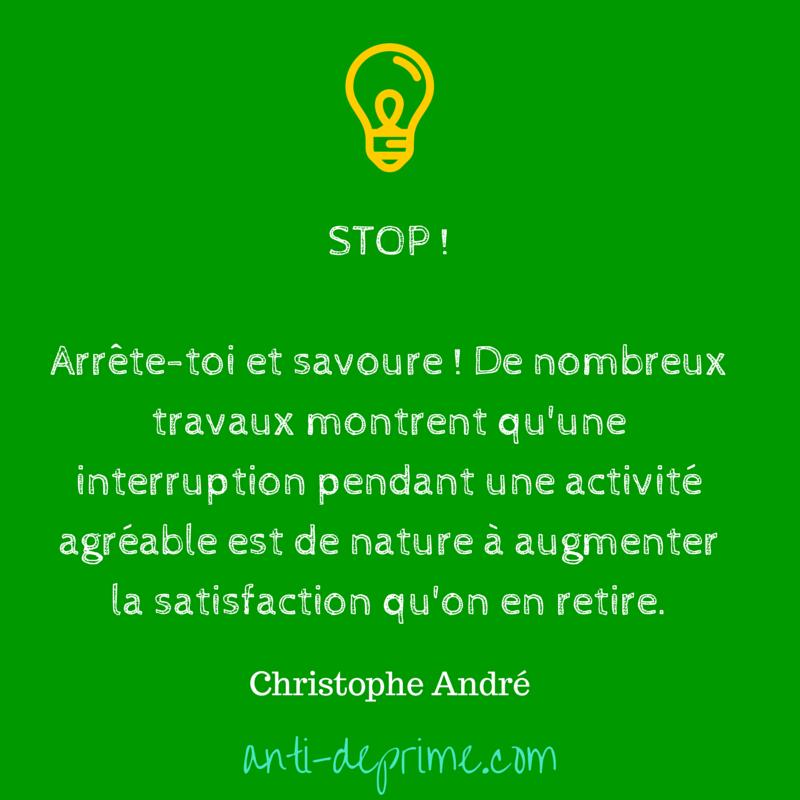 Stop ! Arrête-toi et savoure ! De