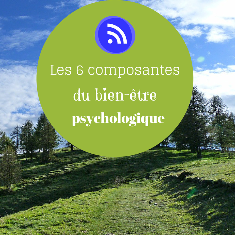 Les 6 composantes du bien-être psychologique