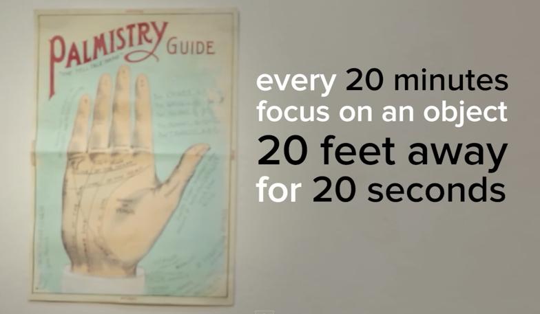 prévenir la fatigue des yeux
