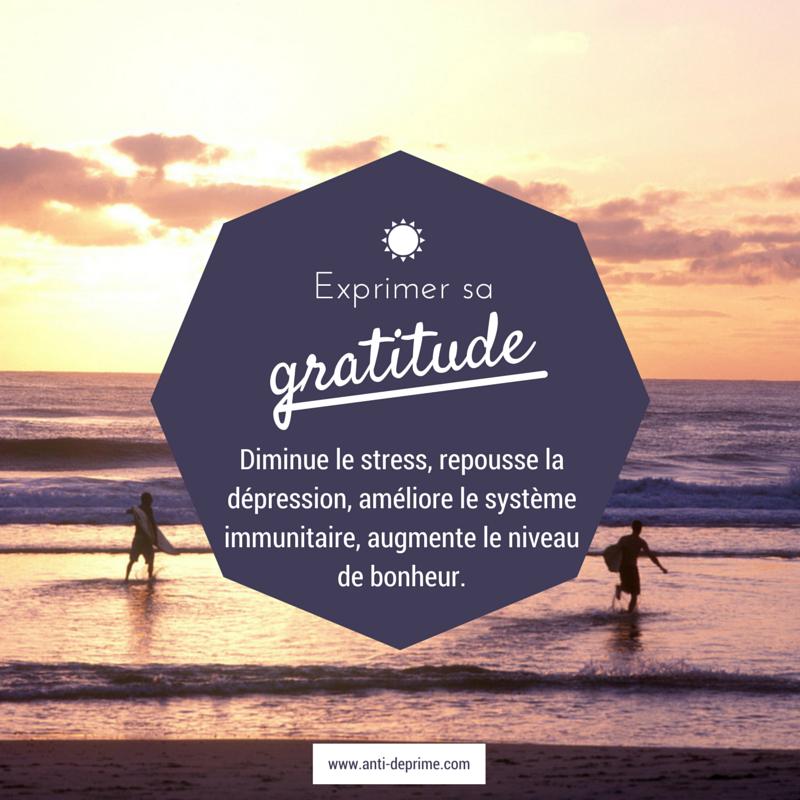 Exprimer sa gratitdue