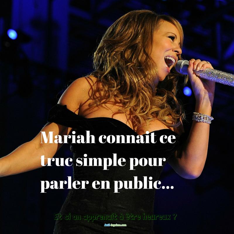 Mariah connait ce truc simple pour