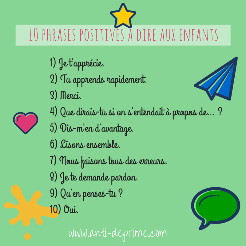 Fabuleux phrases positives à dire aux enfants GF06