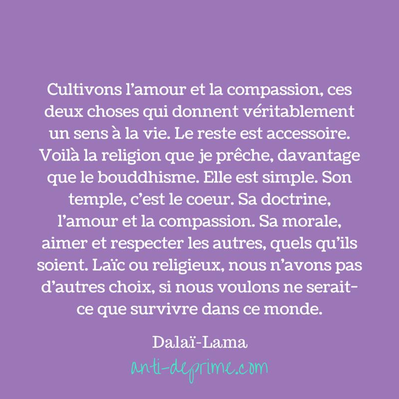 Cultivons l'amour et la compassion, ces