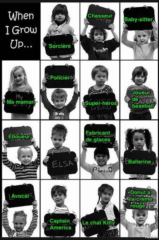 ce que les enfants veulent devenir en grandisssant