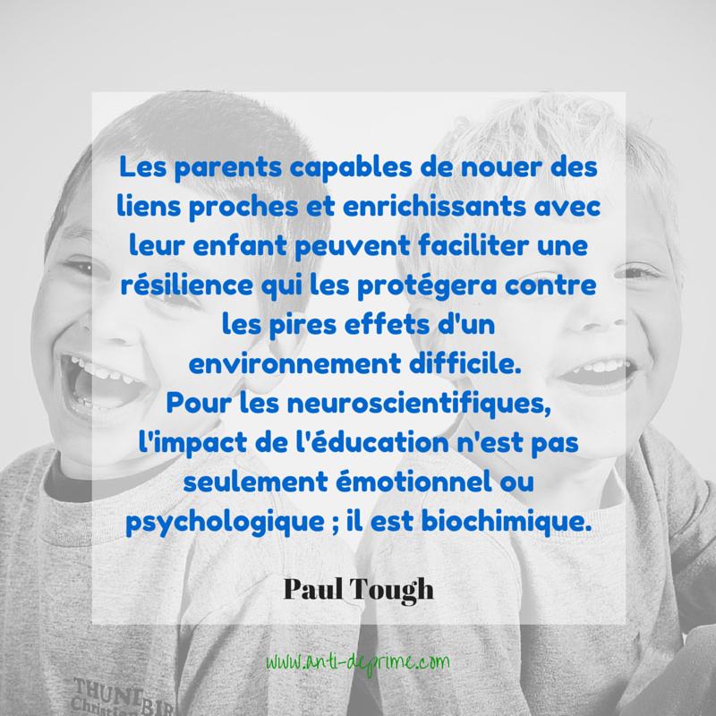 les parents capables de nouer des liens