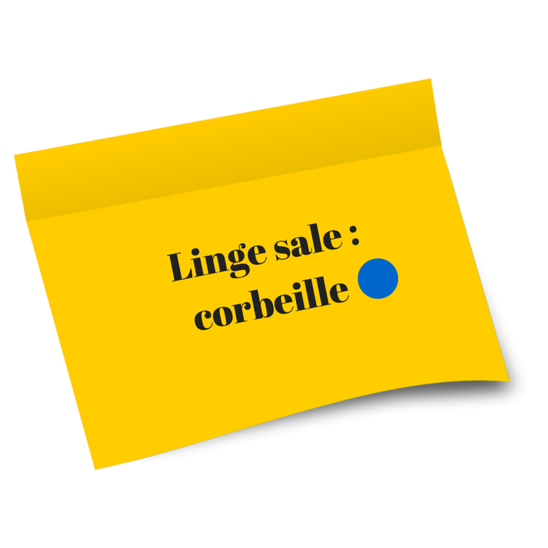 Linge sale _ corbeille BLEUE