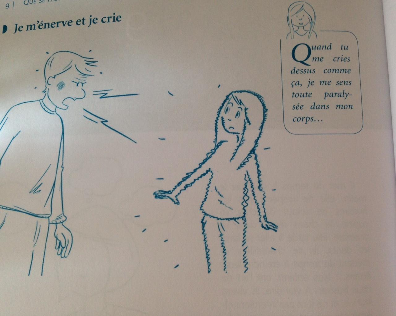 crier sur un enfant