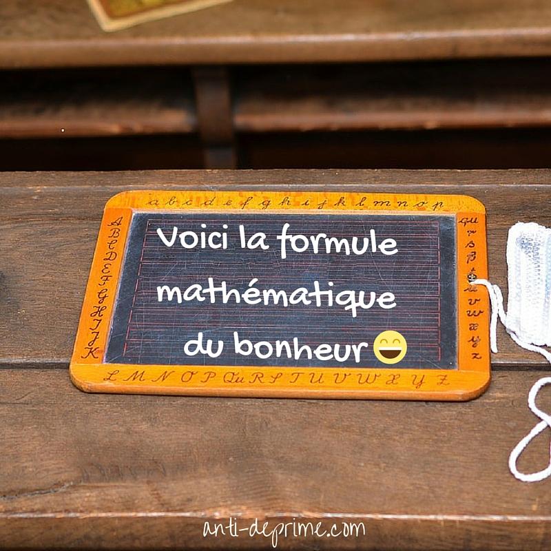 Voici La Formule Math 233 Matique Du Bonheur