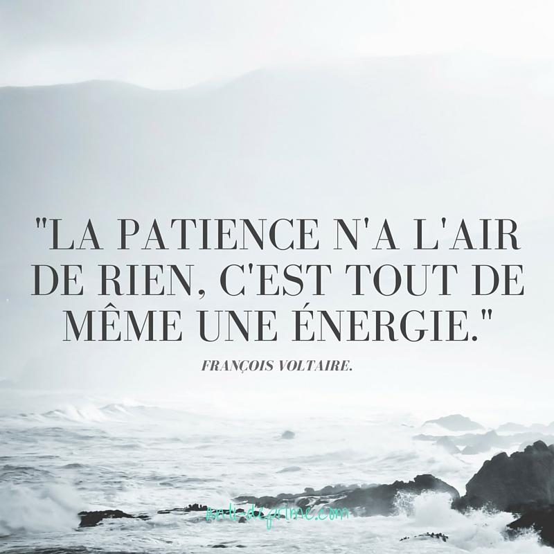 La patience n'a l'air de rien, c'est tout