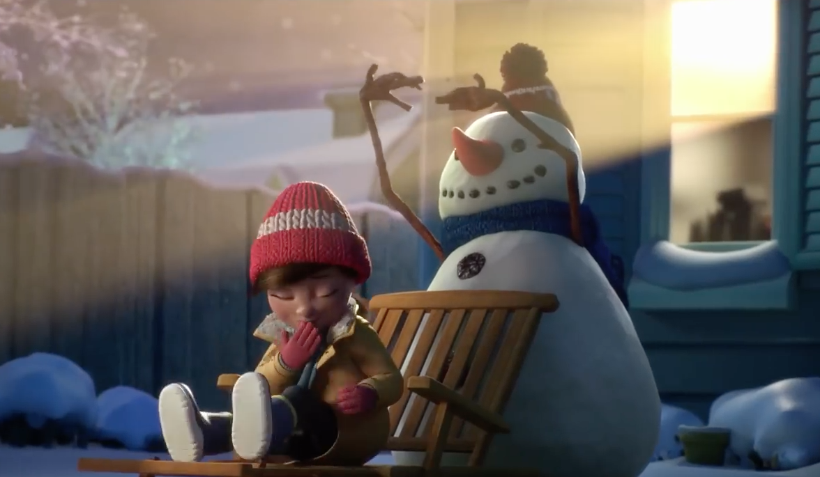 Lily and snowman