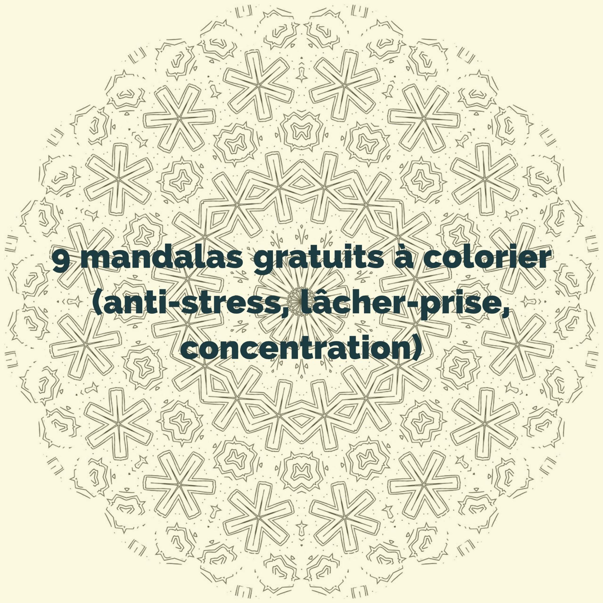 32 mandalas gratuits à colorier anti stress, lâcher prise ...